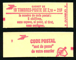 FRANCE - CARNET YT 2319-C1 - FERME - DATE - Gomme Brillante - Confectionneuse 7 - Carnets