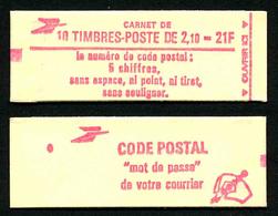 FRANCE - CARNET YT 2319-C1 - FERME - DATE - Gomme Brillante - Confectionneuse 6 - Carnets