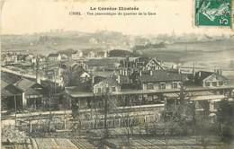 19 USSEL - VUE PANORAMIQUE DU QUARTIER DE LA GARE - Ussel
