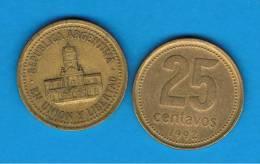 ARGENTINA -  25 Centavos  1992  KM85 - Argentine