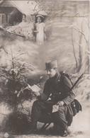 GESEGNETE WEIHNACHTEN , K.u.K. SOLDAT MIT FAMILIE  , PATRIOTIKA 1916 - War 1914-18