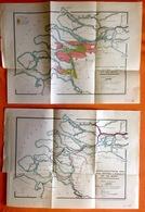 2 KAARTEN SCHEEPVAART TUSSEN SCHELDE EN RIJN VAN VOOR 1600 TOT 1930 Ca©1930 Boot ZEELAND ROTTERDAM ANTWERPEN R425 - Cartes Topographiques
