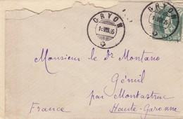 SMALL COVER. TRES PETITE LETTRE. SUISSE GRYON 1885 - Briefmarken