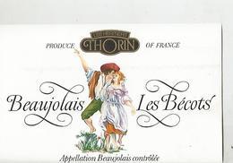 Etiquette Beaujolais Les Bécots - Beaujolais