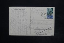 FRANCE / ALLEMAGNE - Affranchissement De Konstanz Sur Carte Postale En 1949 - L 25095 - Zona Francesa