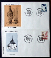 Denmark Cz. SLANIA 1983 EUROPA  CEPT  MiNr.781-82  FDC  ( Lot Ks   ) FOGHS COVER - FDC