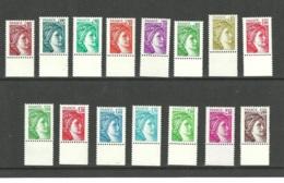 TIMBRE-POSTE FRANCE - YVERT 1962B à 1979B - SABINE SANS PHOSPHORE SIGNES - 1977-81 Sabine De Gandon