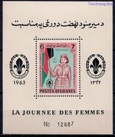 Afghanistan Women's Day Girl Scout With Flag Perforate Souvenir Sheet Block MNH 1964 A04s - Afghanistan