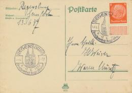 Deutsches Reich 517 Auf Karte Sonderstempel Regensburg Gausportfest 1937 - Duitsland