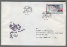 C4172 Ceska Republika FDC 1995 ONU ORGANIZACE SPOJENYCH NARODU 14 KC VG Viaggiata Con Timbro E Bollocommemorativo Italia - FDC