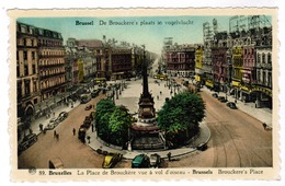 Brussel, Bruxelles, De Brouckere's Plaats In Vogelvlucht (pk55507) - Places, Squares