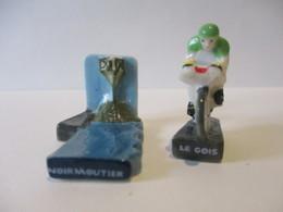 Fèves Brillantes  X 2 - Noirmoutier Et Le Gois - Le Tour En Vendée De Poulichette - Sport