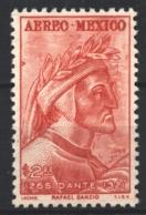 Mexico - Mexique 1965 Airmail Yvert 260, 7th Centenary Of The Birth Of The Poet Dante Alighieri - MNH - México