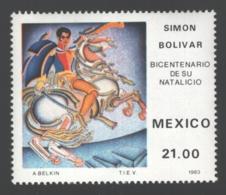 Mexico - Mexique 1983 Yvert 1017, Bicentenary Of The Birth Of Simón Bolívar - MNH - Mexico