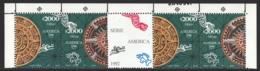 Mexico - Mexique 1992 Michel 2318-19, Mexican Motives - Aztec Sun Stone - Strip With Border Sheet - MNH - Mexique