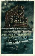 ATLANTIC CITY Ritz Carlton Hotel At Night  NEW JERSEY Belle Chromolitho By Sithens - Atlantic City