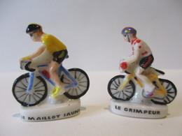 Fèves Brillantes  X 2 -Le Maillot Jaune Et Le Grimpeur - Le Tour En Vendée De Poulichette - Sports