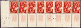 FRANCE 1949 - BLOC DE 8 TP / Y.T. N° 826 - Métallurgiste NEUF** BLOC NUMEROTE - Mint/Hinged