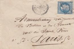 LETTRE. 1868. DORDOGNE LA TOUR-BLANCHE. GC 3948. PERLÉ T22 POUR PARIS - Storia Postale