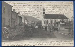 St Epvre   Rue Principale Et L'Eglise       Animées    écrite En 1904 - Autres Communes