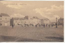 Sint-Niklaas - Saint-Nicolas (W.) - Grand'Place - Geanimeerd - 1910 - Sint-Niklaas