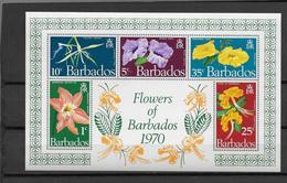 FLEURS -  BARBADOS YVERT N° BLOC 2 ** MNH - COTE = 8 EUR. - Barbades (1966-...)