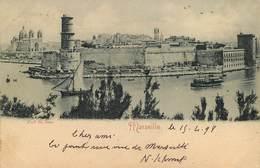 Dép 13 - Marseille - Pionnière - Circulé En 1898 - Fort Saint Jean - 2 Scans - état - Vieux Port, Saint Victor, Le Panier