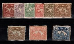 Madagascar - Taxe YV 8 à 16 N* (charnieres Fortes) Complète Cote 5 Euros - Madagascar (1889-1960)