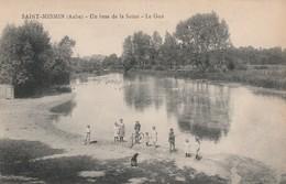 SAINT MESMIN - UN BRAS DE LA SEINE - LE GUE - BELLE CARTE ANIMEE - PECHEUR, CYCLISTE - - France