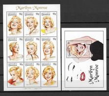 MARILYN MONROE -  DOMINICA YVERT N° 1705/1713 + BLOC 277 ** MNH - COTE = 22.5 EUR. - Dominique (1978-...)