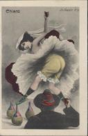 CPA CP Chianti Alcool Le Sourire N°19 Vin Italien Danseuse Carte Humoristique - Humor