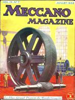 Ancienne Revue MECCANO Magazine Vol IX N°7 Juillet 1932 - Meccano