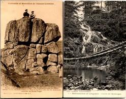 2 CPA ** Les Roches Granitiques Des Htes Vosges + Cascade CHARLEMAGNE Retounemer & Longemer   ** Ecrites En 1907 & 1915 - France