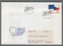 C4196 Ceska Republika FDC 1995 EUROPE AGREEMENT 8 KC VG Viaggiata Accordo Europea - FDC