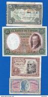 Espagne 7 Billets - [ 3] 1936-1975 : Régence De Franco