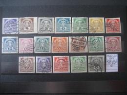 Österreich/Austria- Zeitungmarken 1920-21, Mi. Nr. Und ANK 293-311 Gestempelt - Zeitungsmarken