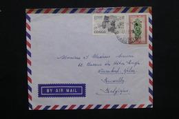 CONGO - Enveloppe De Jadotville En 1963 Pour Bruxelles , Affranchissement Plaisant - L 25106 - République Du Congo (1960-64)