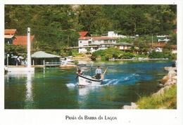 Praia Da Barra Da Lagoa Beach (Florianopolis), Carte Postale écrite Au Verso - Florianópolis