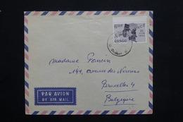 CONGO - Enveloppe Pour Bruxelles , Affranchissement Plaisant - L 25107 - République Du Congo (1960-64)