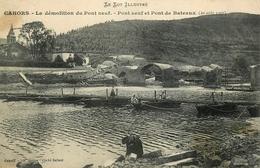 Cahors - La Démolition Du Pont Neuf - Pont De Bateaux ( 20 Aout 1907 ) - Belle Animation - Cahors