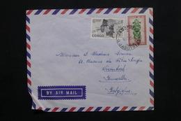 CONGO - Enveloppe De Jadotville  Pour Bruxelles En 1963 , Affranchissement Plaisant - L 25109 - République Du Congo (1960-64)