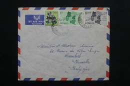 CONGO - Enveloppe De Jadotville  Pour Bruxelles En 1963 , Affranchissement Plaisant - L 25110 - République Du Congo (1960-64)