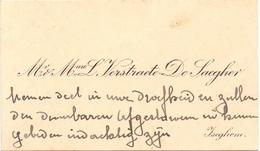Visitekaartje - Carte Visite - Mr & Mme  Verstraete - De Saegher - Izegem - Cartes De Visite