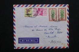 CONGO - Enveloppe De Jadotville  Pour Bruxelles En 1963 , Affranchissement Plaisant - L 25111 - République Du Congo (1960-64)