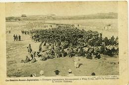 12567  Japon  La Guerre Russo - Japonaise. - TROUPES JAPONAISES BIVOUAQUANT à PING - YANG / RIVIERE TAITONG - Altri