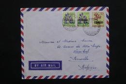 CONGO - Enveloppe De Jadotville  Pour Bruxelles En 1963 , Affranchissement Plaisant - L 25112 - République Du Congo (1960-64)