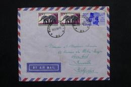 CONGO - Enveloppe De Elisabethville Pour Bruxelles En 1964 , Affranchissement Plaisant - L 25114 - République Du Congo (1960-64)