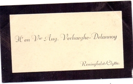 Visitekaartje - Carte Visite - Hr & Vw Aug. Verhaeghe - Delannoy - Reningelst Clytte - Cartes De Visite