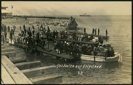 HELGOLAND UM 1910, FOTO-PK, ABB. AUSBOOTEN DER GÄSTE, UNGELAUFEN! - Helgoland
