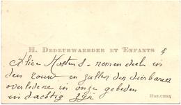 Visitekaartje - Carte Visite - H. Dedeurwaerder & Enfants - Helchin - Cartes De Visite